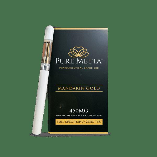 Pure Metta Vape Pen & Cartridge 450 MG
